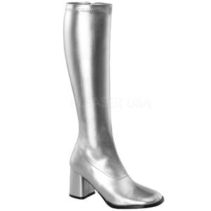 Sølv Mat 7,5 cm Funtasma GOGO-300 Dame Støvler