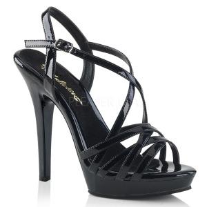 Sort 13 cm Fabulicious LIP-113 højhælede sandaler til kvinder