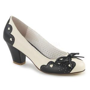 Sort 6,5 cm retro vintage WIGGLE-17 Pinup pumps sko med blokhæl