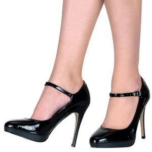 Sort Lakeret 11 cm BLISS-31 Dame Pumps Stilethæle Sko