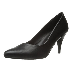 Sort Mat 7,5 cm PUMP-420 klassisk pumps sko til damer