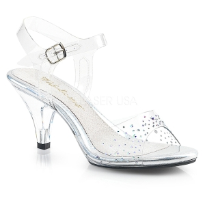 Strass sten 8 cm BELLE-308SD højhælede sandaler til kvinder