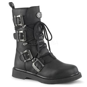 Vegan BOLT-265 demonia ankelstøvler - unisex militærstøvler