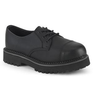 Vegan RIOT-03 demonia sko med stål tå-kappe - unisex punk sko