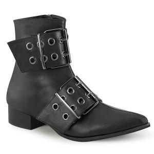 Vegan WARLOCK-55 spidse boots - mænd winklepicker boots 2 spænder