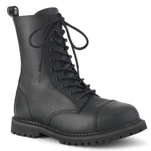 Vegan læder RIOT-10 ankelstøvler med stål tå-kappe - demonia militærstøvler