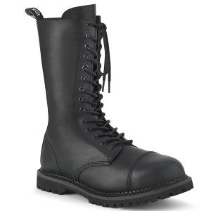 Vegan læder RIOT-14 støvler med stål tå-kappe - demonia militærstøvler