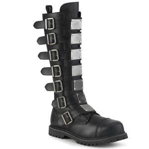 Vegan læder RIOT-21MP støvler med stål tå-kappe - demonia militærstøvler