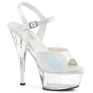 White 15 cm KISS-209BHG Platform High Heels Shoes