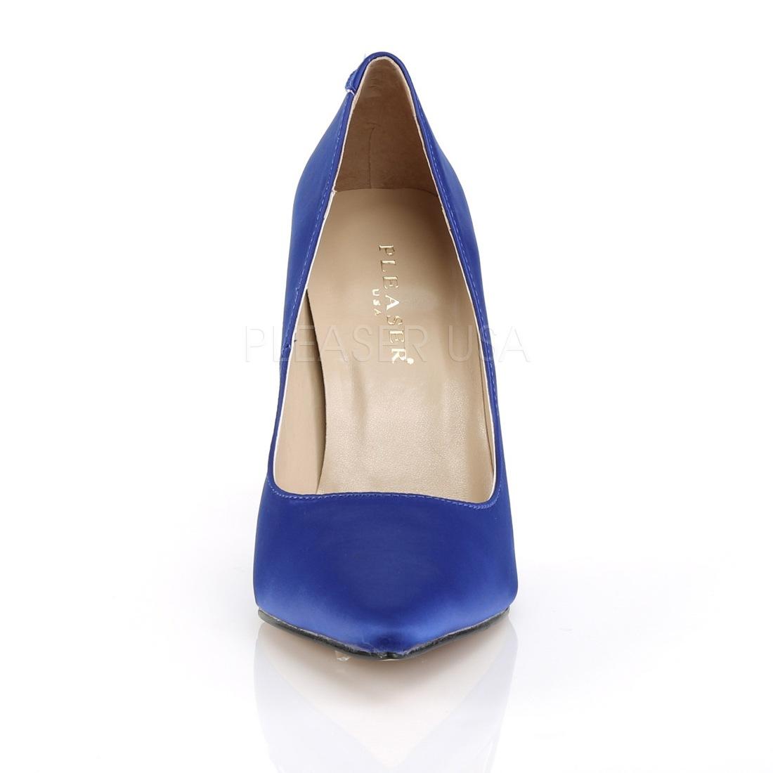 blå satin sko