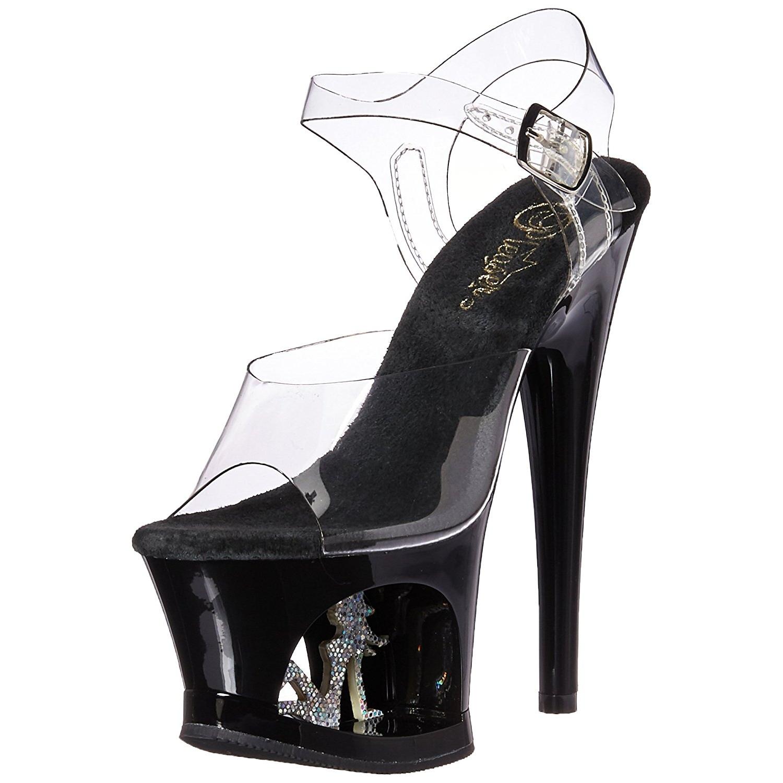 59b7bb3a3672 Black 18 cm MOON-708TG Platform High Heels Shoes