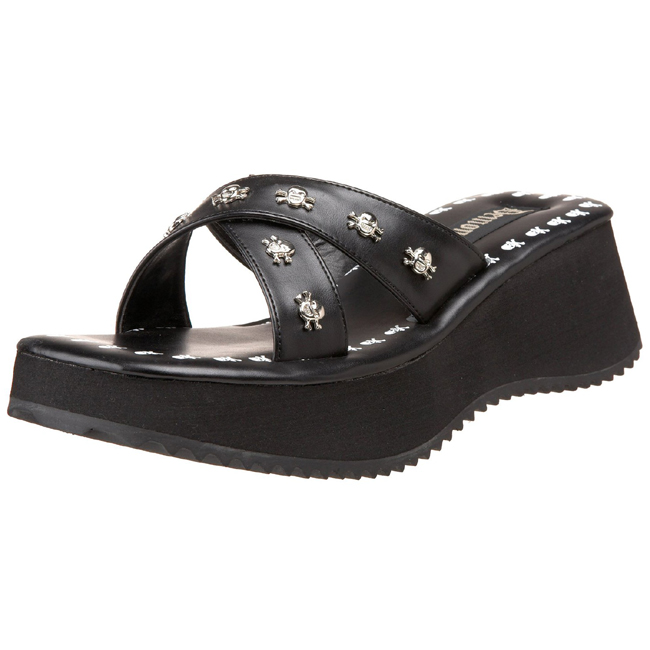 Goth 5 Platform Womens Black Flip 05 6 Cm Sandals qSMVzpGU
