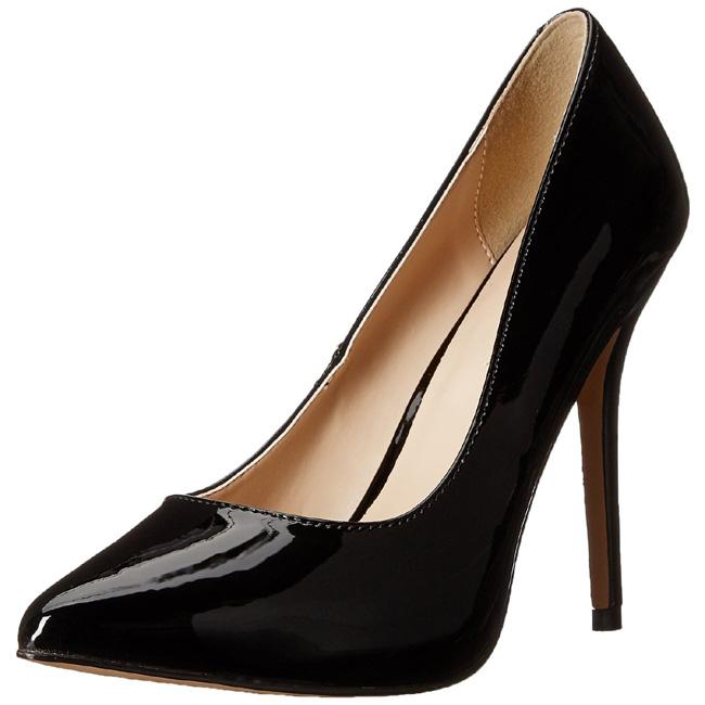 62c80bdaba8 Black Shiny 13 cm AMUSE-20 Pumps High Heels for Men