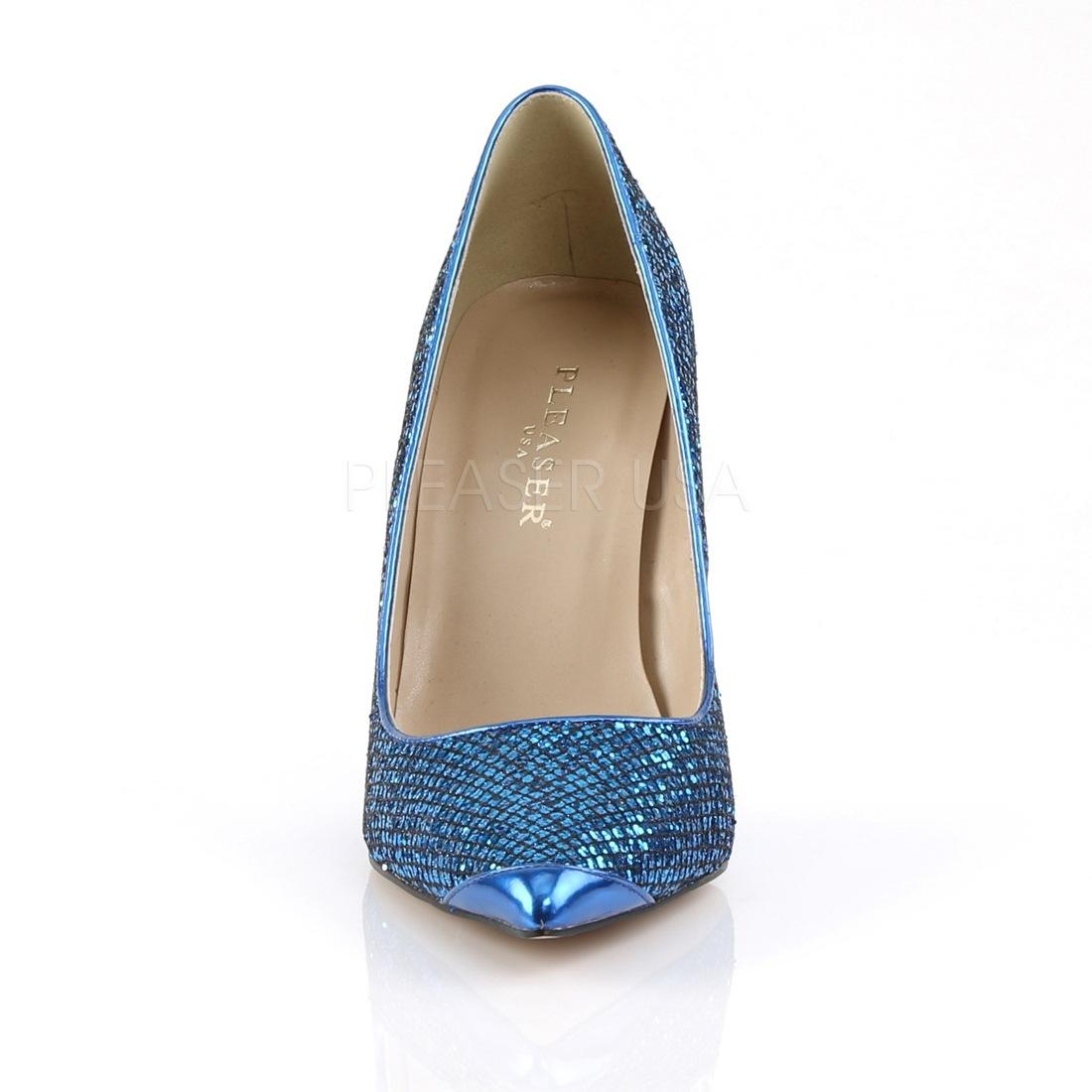 Blue Glitter 10 cm CLASSIQUE-20 big size stilettos shoes cc3bdbe61c