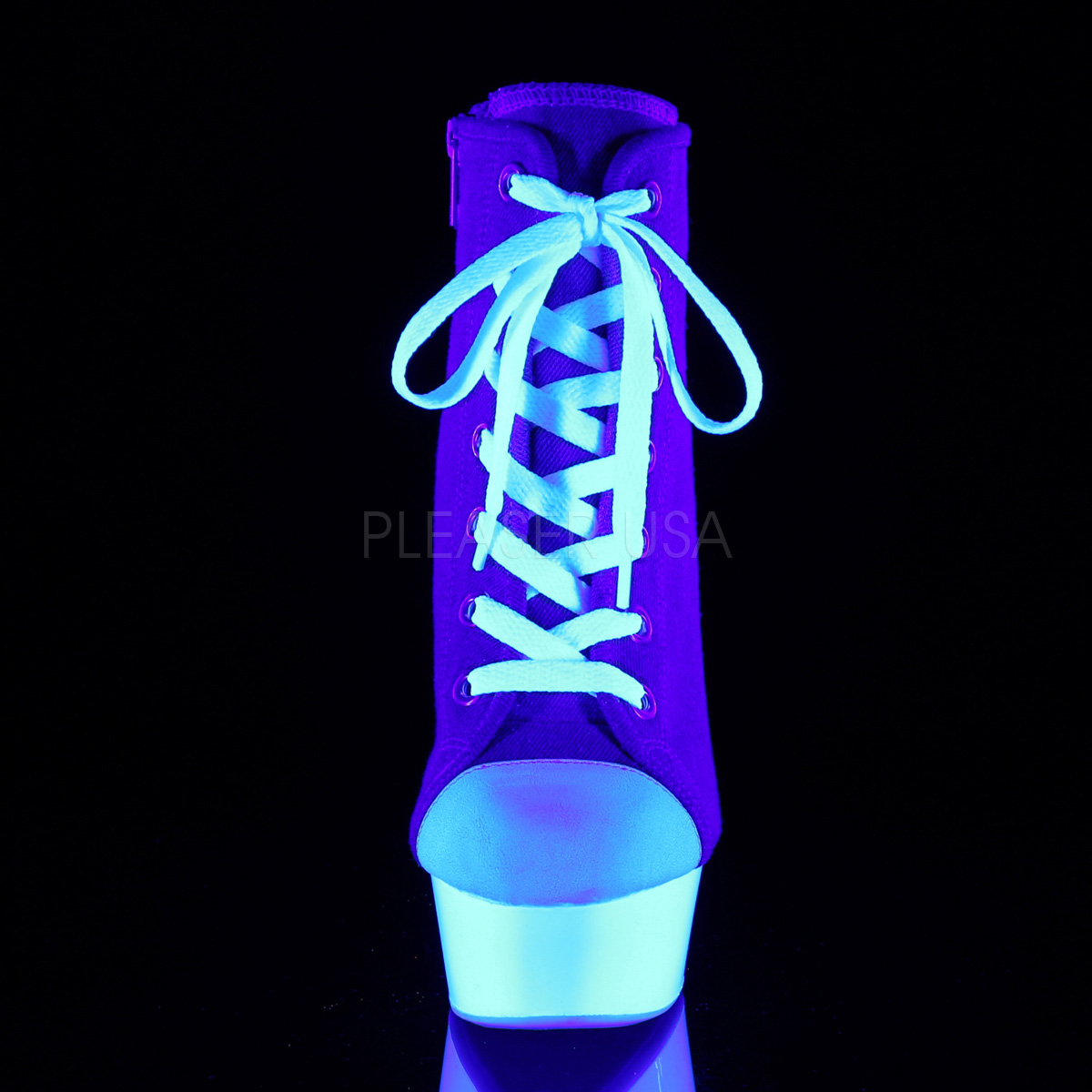 1a34ac5c1adef6 Blue Neon 15 cm DELIGHT-600SK-02 Canvas high heels chucks
