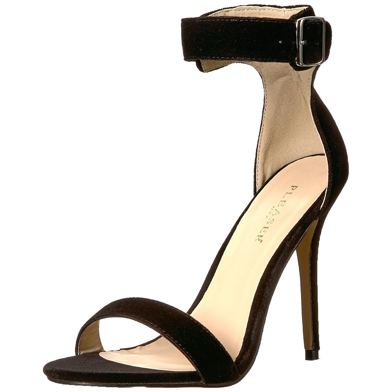f49cfd6a Fløjl 13 cm Pleaser AMUSE-10 højhælede sandaler til kvinder