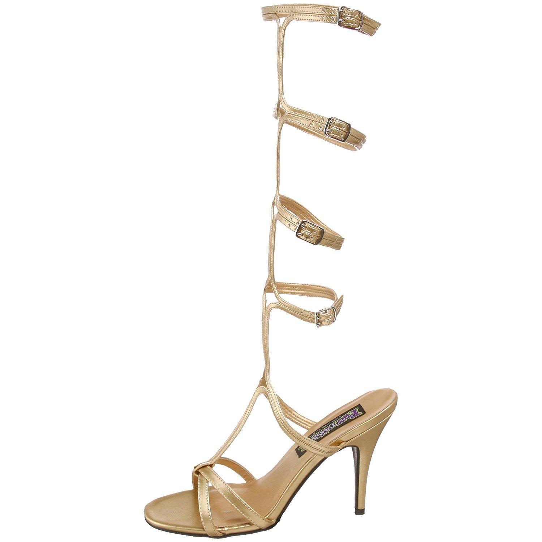 Roman Womens Gladiator Gold 10 Knee 8 Cm Sandals High oeQCxrdWB
