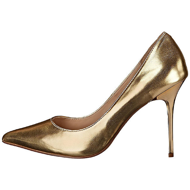 ac5d7407a78 Gold Matte 10 cm CLASSIQUE-20 Women Pumps Shoes Stiletto Heels