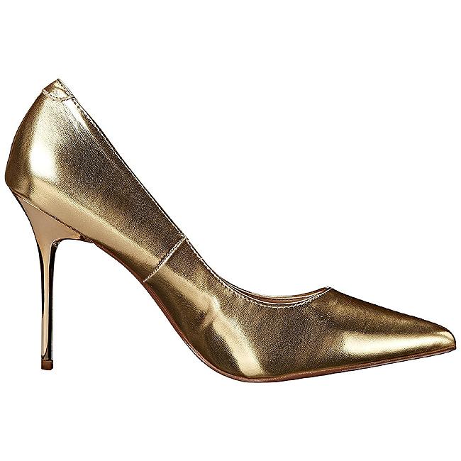 Shoes Stiletto Pumps Cm Matte Classique 20 Gold Women Heels 10 1JFcuTlK3