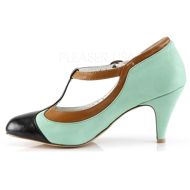 22641e798bff Grøn 8 cm PEACH-03 Pinup pumps sko med lave hæle