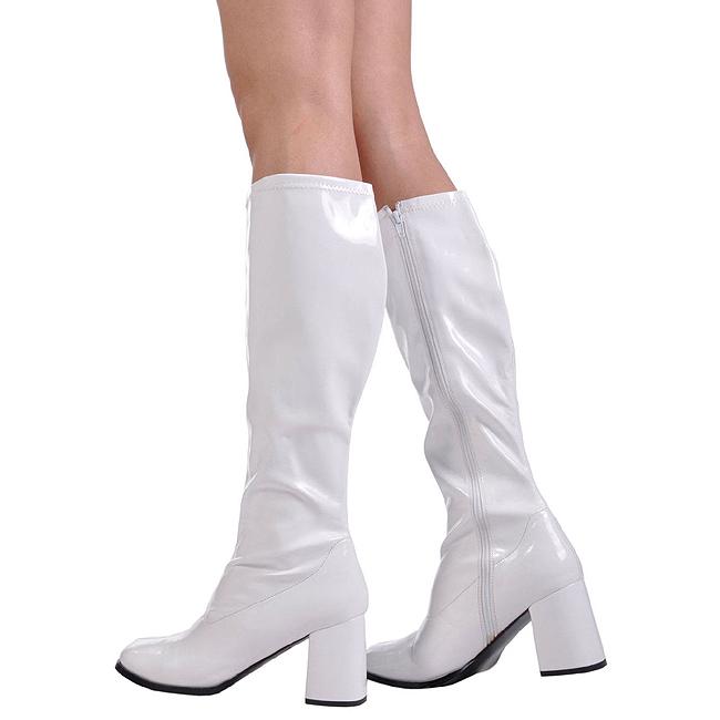 87dc471f743a Hvid Lakeret GOGO300 W FUNTASMA store størrelser Damestøvler til ...