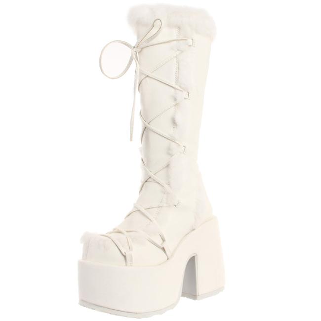 d306da133ee5 Hvid Pels 13 cm CAMEL-311 Gothic Støvler til Kvinder