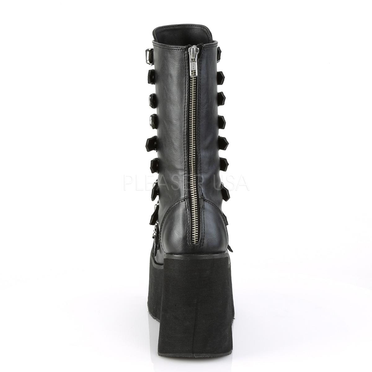 Kunstlæder 11,5 cm DEMONIA KERA 50 gothic støvler med plateau