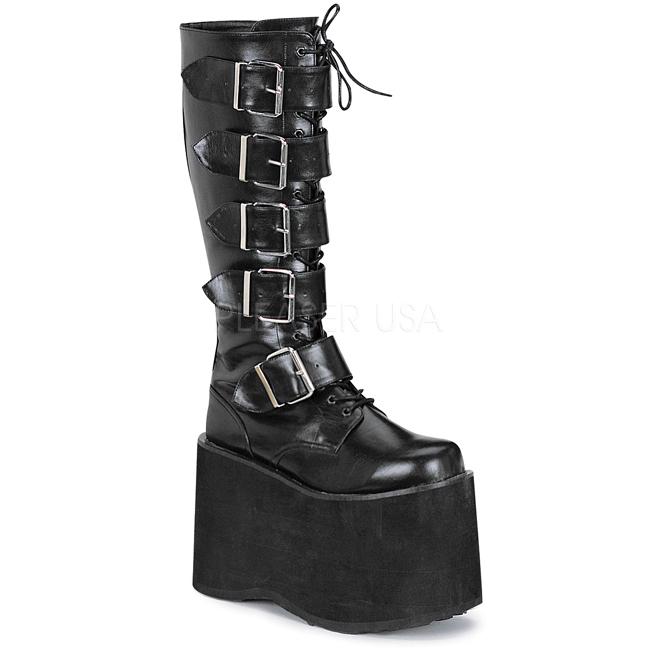 66edebf5a5c1 Kunstlæder 15 cm MEGA-618 Plateau Gothic Støvler til Mænd