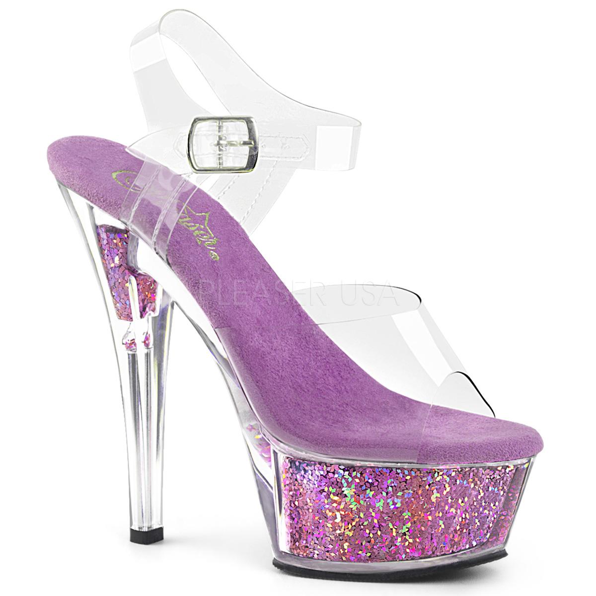 6ee9250b Lavendel 15 cm KISS-208GF glitter plateau sandaler sko