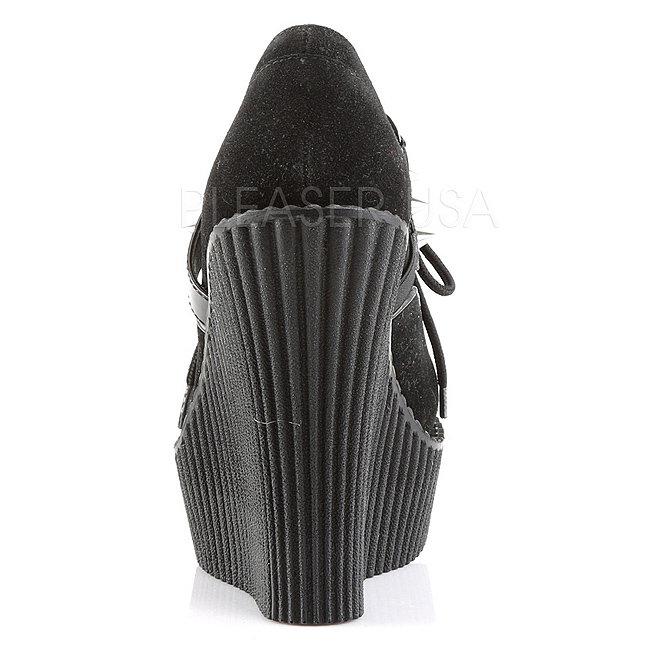 302h Shoes Leatherette Wedges Creeper Creepers Women qzUpMSVG