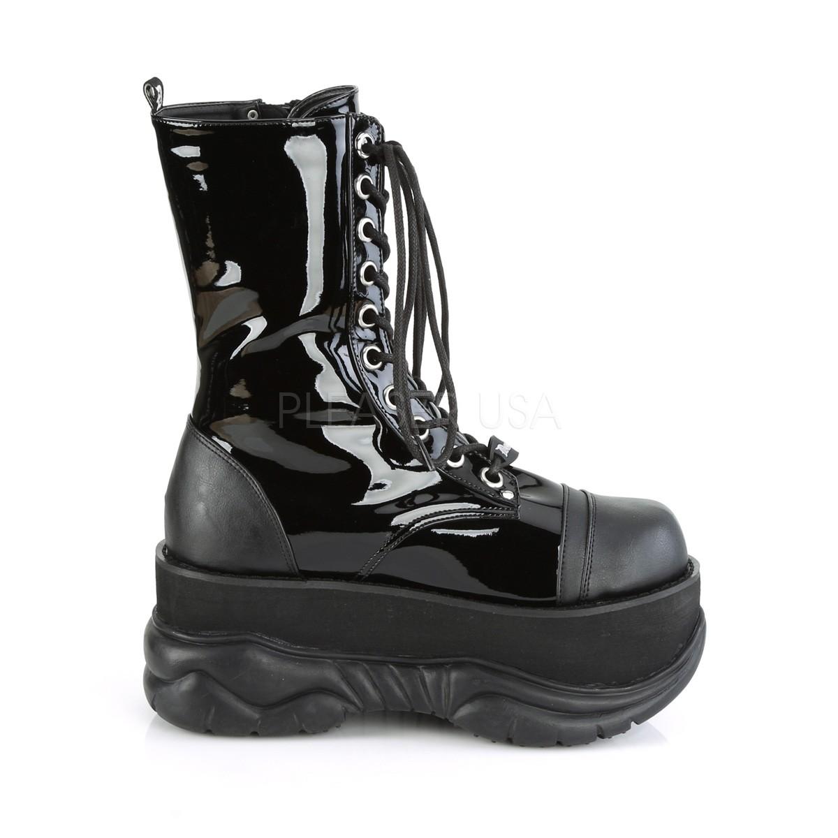 official shop separation shoes 2018 sneakers Patent 7,5 cm NEPTUNE-200 demonia ankle boots - unisex platform ...