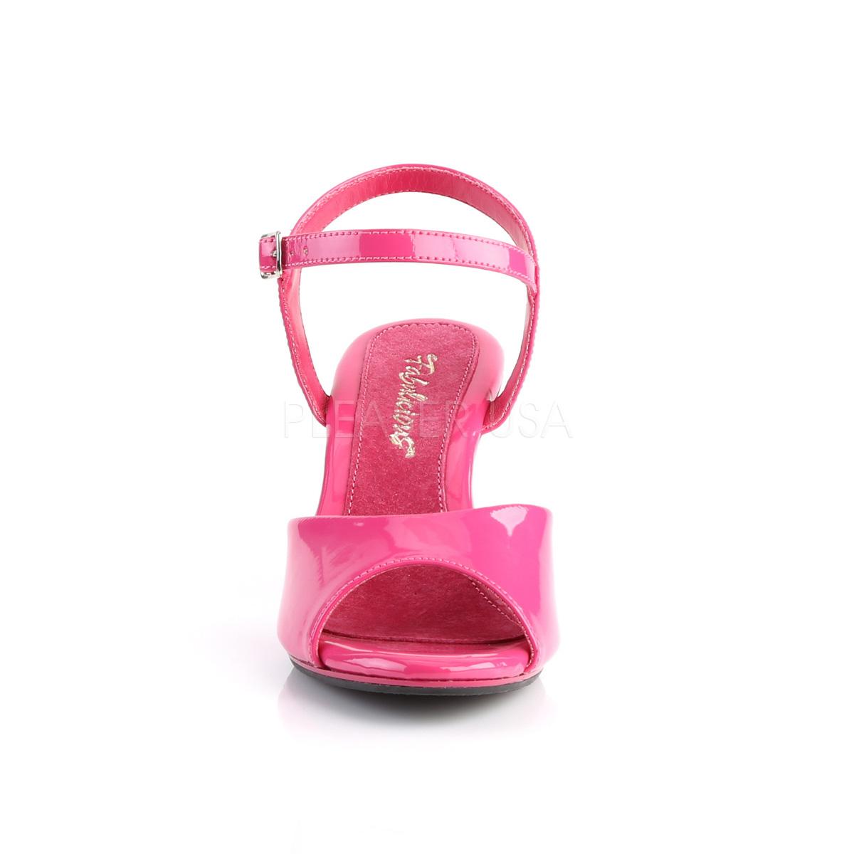 85bd785091a7 Pink Lakeret 8 cm BELLE-309 Høje Damesandaler flade Hæl