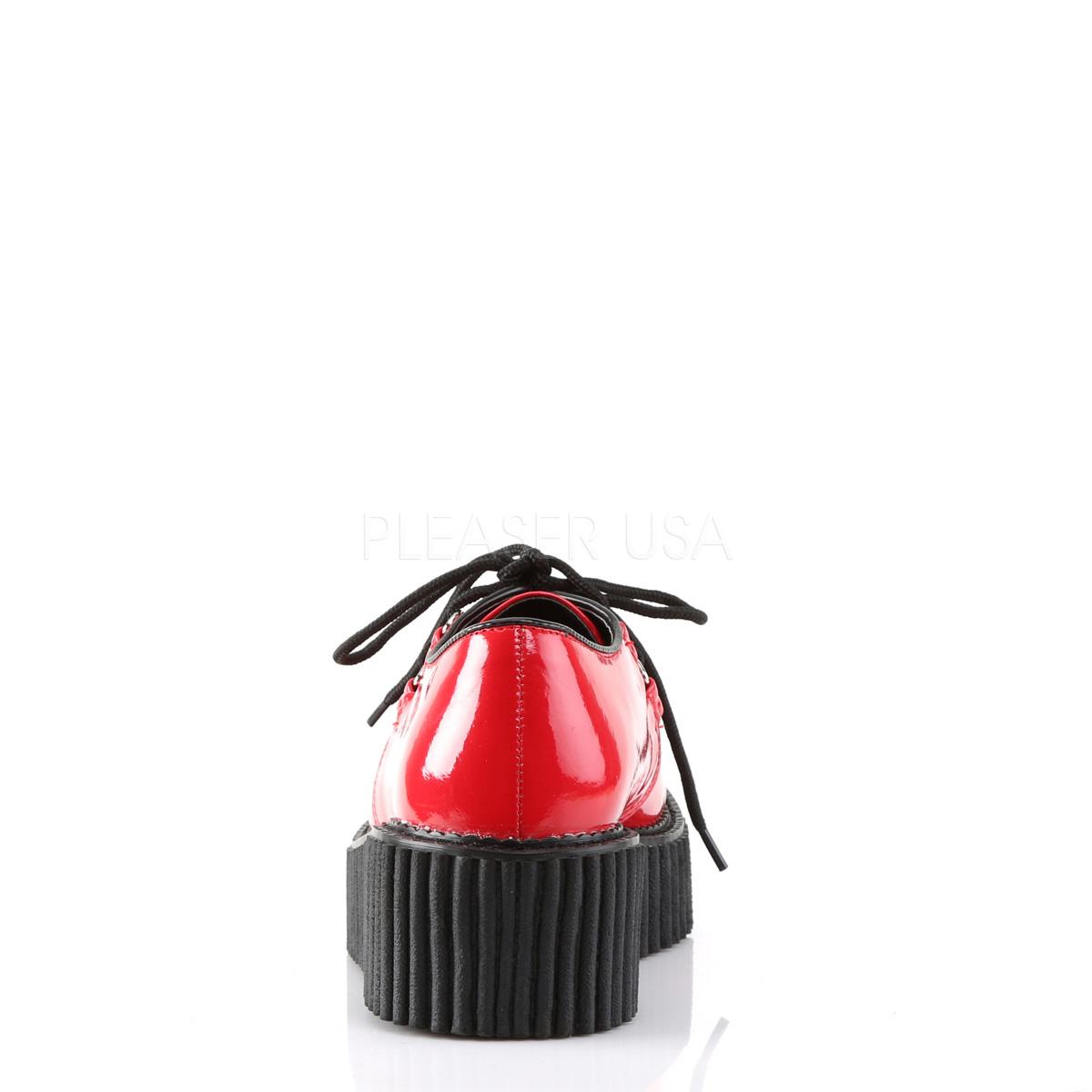 Rød 5 cm CREEPER 108 creepers sko dame plateausko med tykke såler
