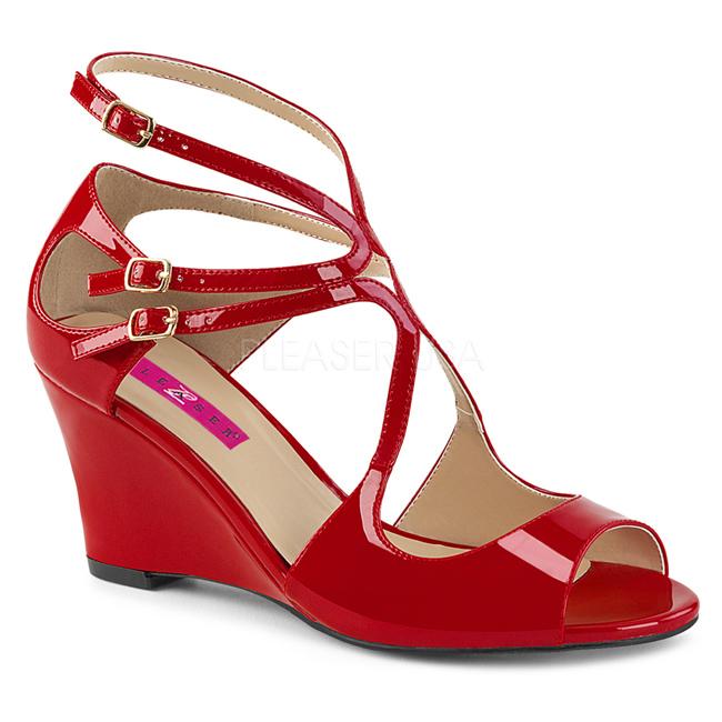 82ac1542f048 Røde Sandaler Dame