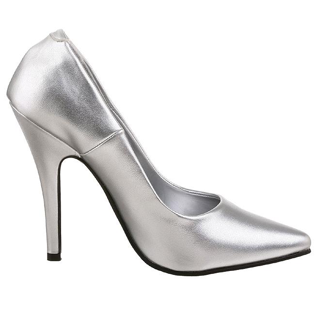 9d5886bfdea Silver Matte SED420 S PU PLEASER big size High Heels Pumps for Men ...