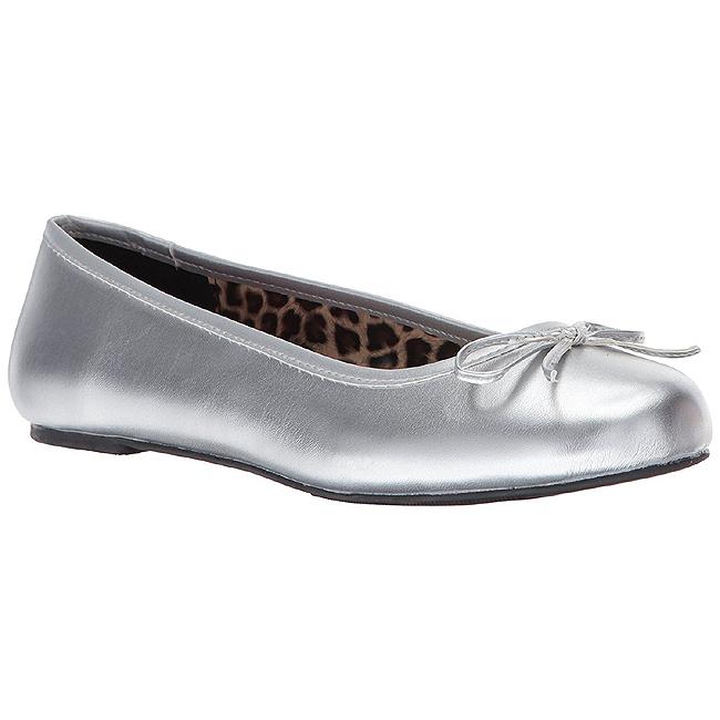 Sølv Kunstlæder ANNA 01 store størrelser ballerina sko