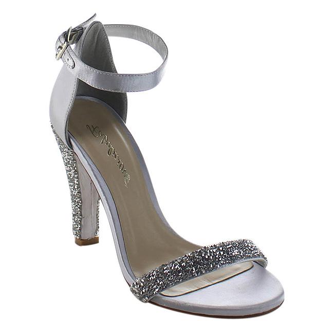 Sølv Strass 11,5 cm CLEARLY-436 Høje Fest Sandaler med Hæl - pleaser sko danmark - www.highheels ...