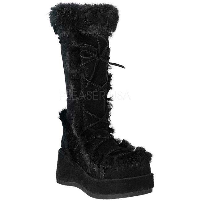 c998932a546a Sort 7 cm CUBBY-311 lolita støvler gothic plateau tykke såler