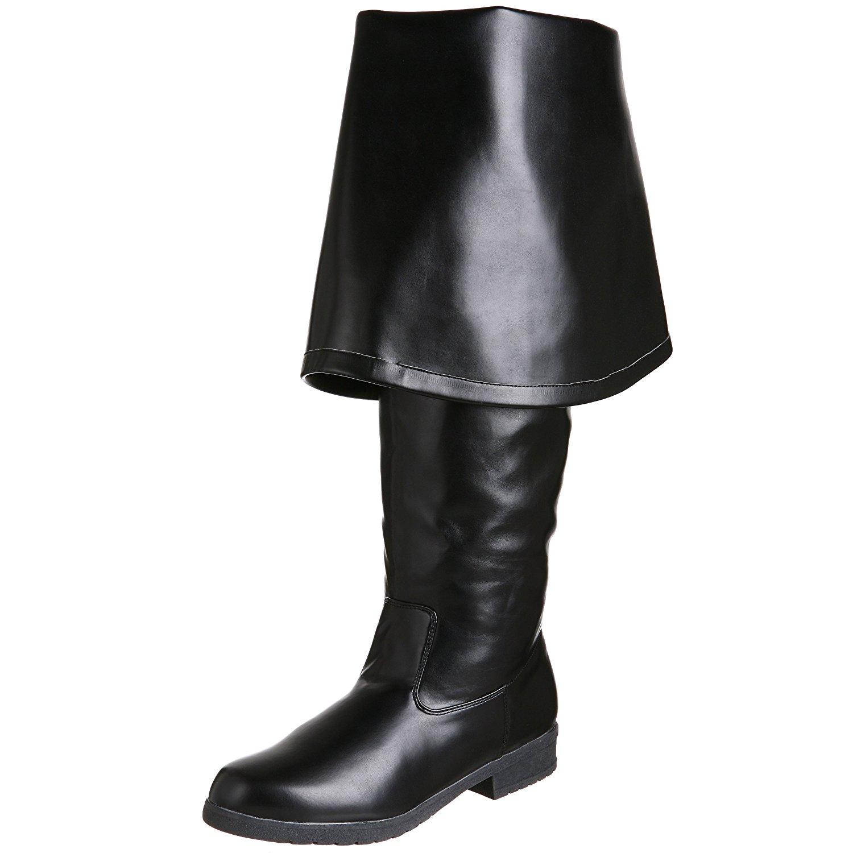 Sort Læder 4 cm MAVERICK 2045 Lårlange Støvler til Mænd