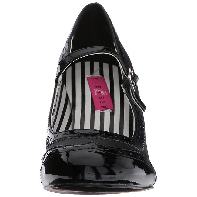 Sort Kunstlæder 7,5 cm JENNA 06 store størrelser pumps sko