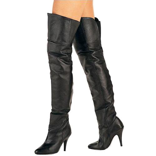 escortguidd lårlange støvler læder