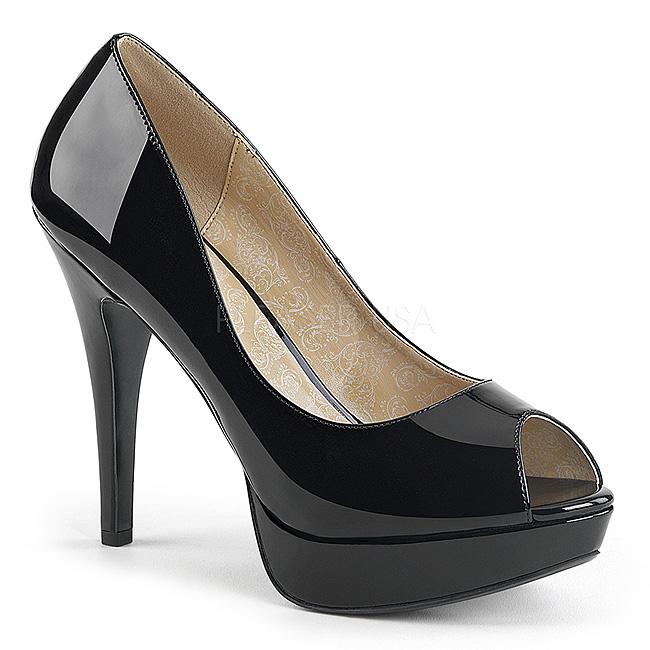 d8cf8159 Sort Laklæder 13,5 cm CHLOE-01 store størrelser pumps sko