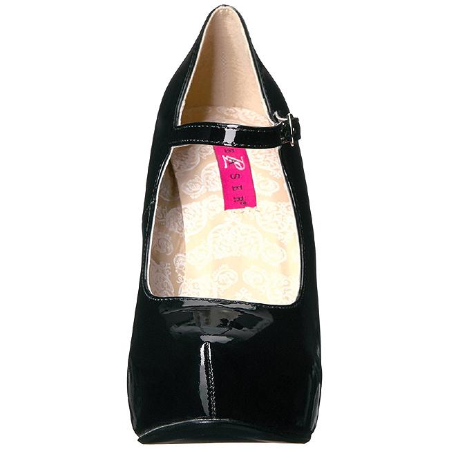 9a38a4d8 Sort Laklæder 13,5 cm CHLOE-02 store størrelser pumps sko