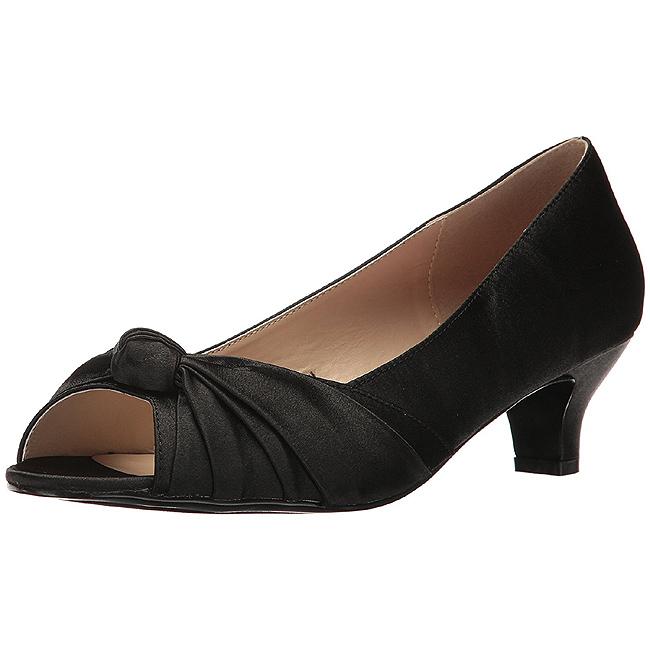 c98e2bc1 Sort Satin 5 cm FAB-422 store størrelser pumps sko