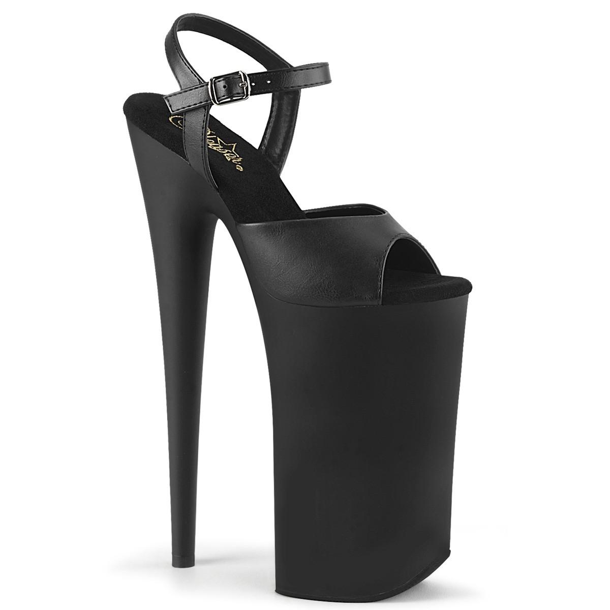 Vegan 25,5 cm BEYOND 009 ekstremt højhælede sko plateau høje hæle