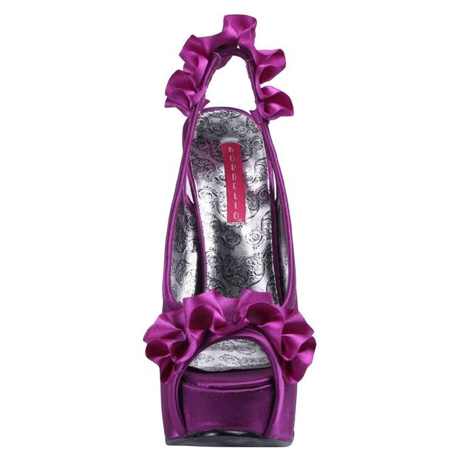 Violet Satin 14,5 cm Burlesque TEEZE 56 Plateau Højhælede Sandaler Sko