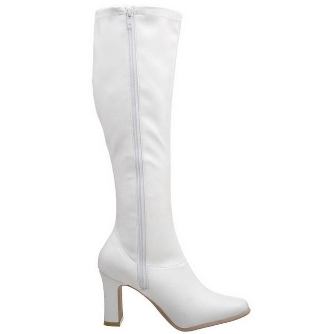 White Matt 9,5 cm FUNTASMA KIKI-350 Women Knee Boots