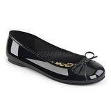 Sort Laklæder ANNA-01 store størrelser ballerina sko