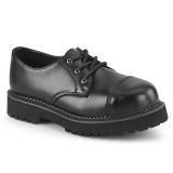 Ægte læder RIOT-03 demonia sko med stål tå-kappe - unisex punk sko