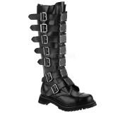 Ægte læder RIOT-21MP demonia støvler - unisex militærstøvler